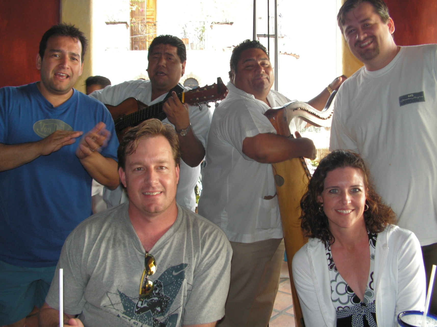 Rick and the mariachi band in puerto vallarta